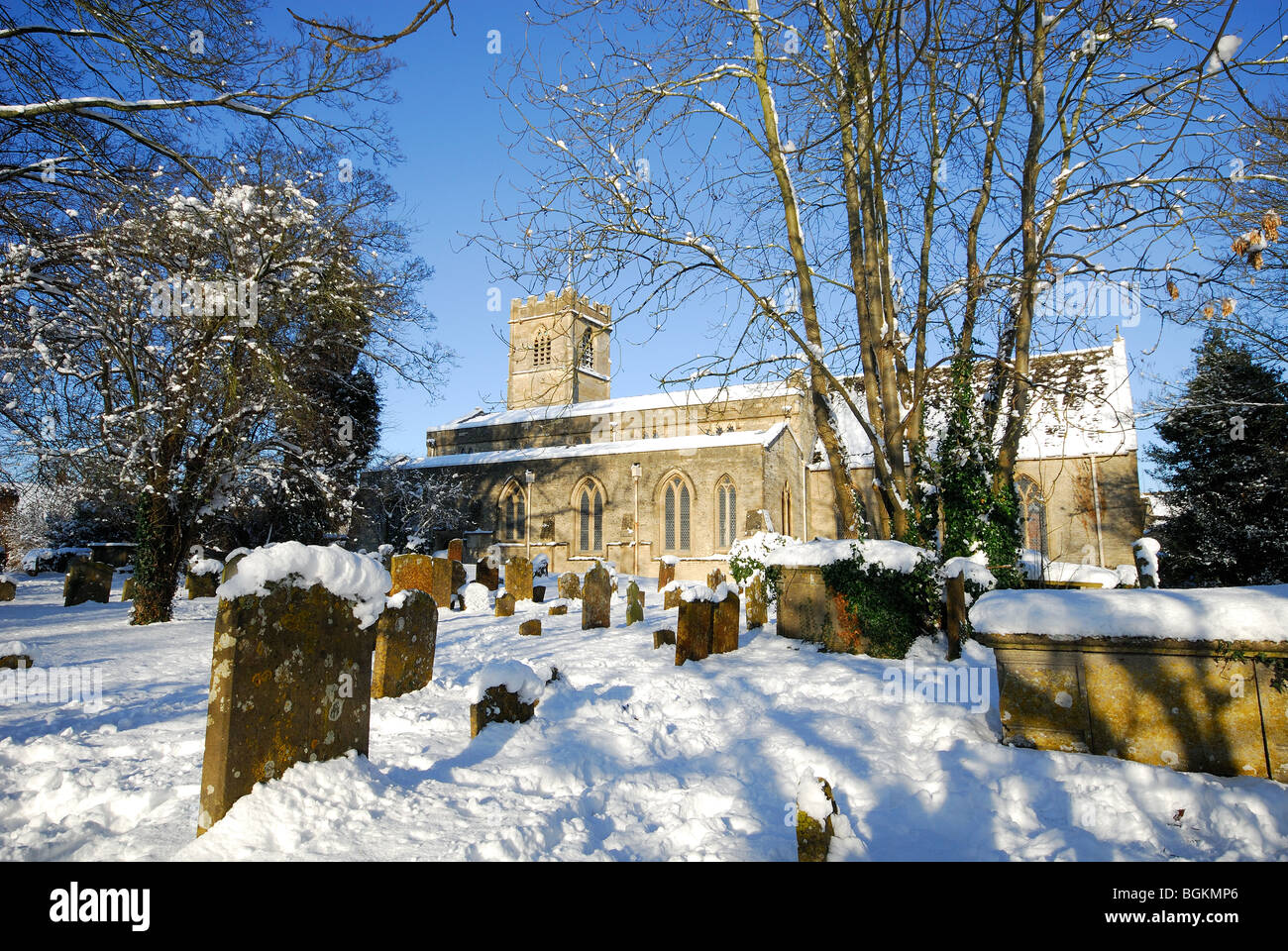 An English Country Church In The Winter