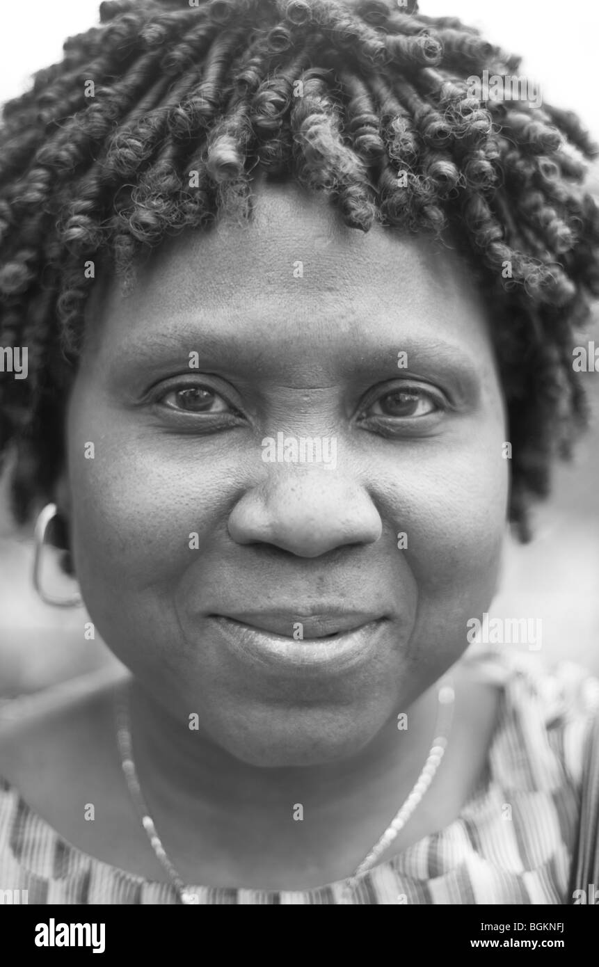 Afro Caribbean woman photographed in Vauxhall South London - Stock Image