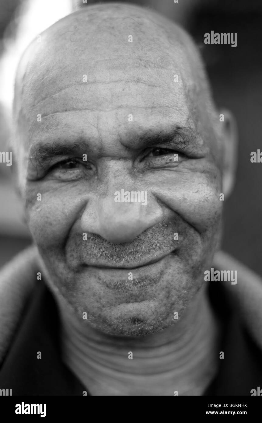 Afro Caribbean man photographed in Vauxhall South London - Stock Image