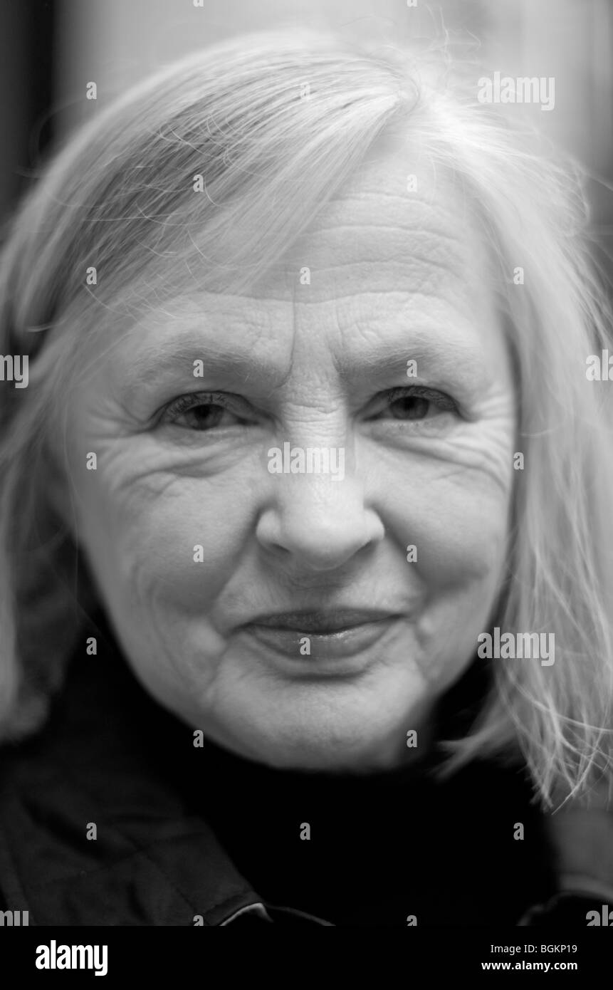 Faces of London- woman in her sixties photographed in St James's London UK - Stock Image