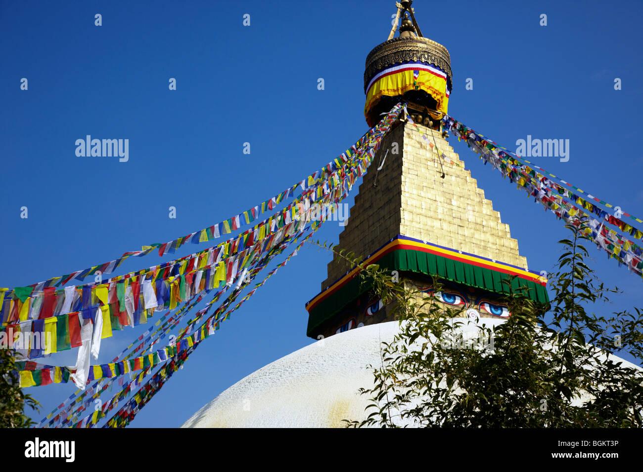 Bodhnath Stupa Kathmandu Nepal Asia Stock Photo
