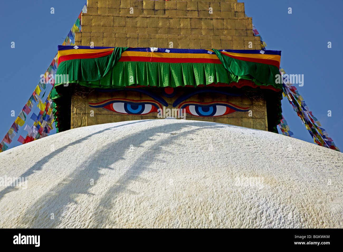 Bodhnath Stupa Kathmandu Nepal Asia - Stock Image