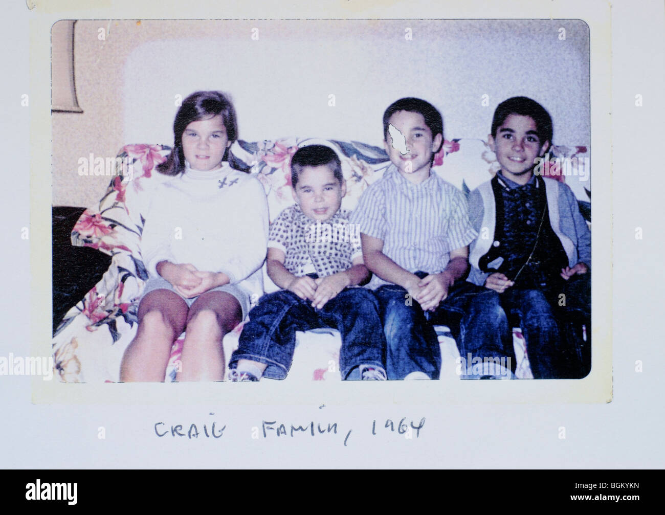 N.J, U.S.A., 1960's Family Group Photos, Vintage - Stock Image