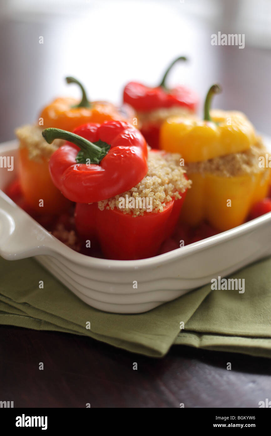 Quinoa stuffed bell peppers - Stock Image