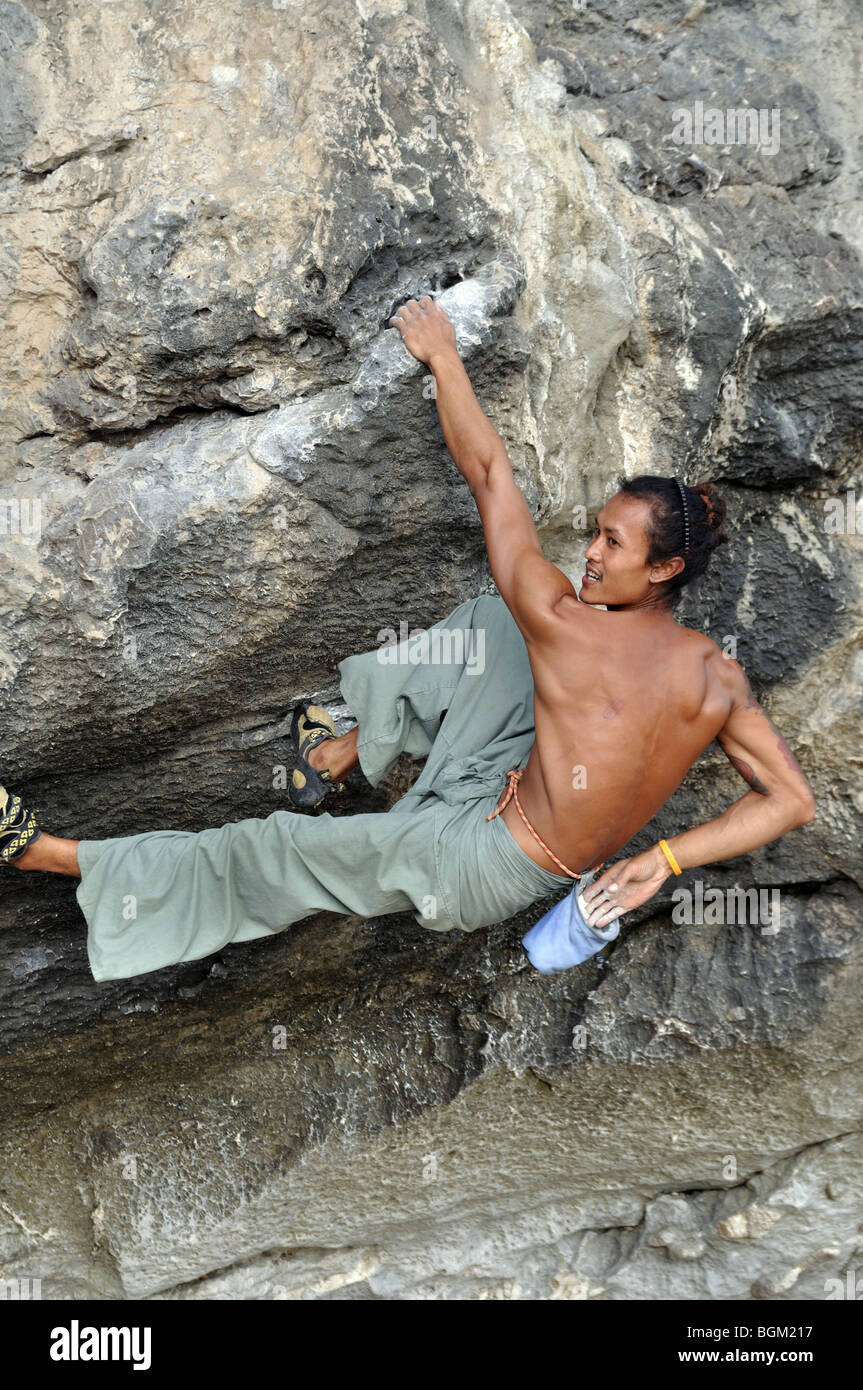 Rock Climbing Asia Stock Photo