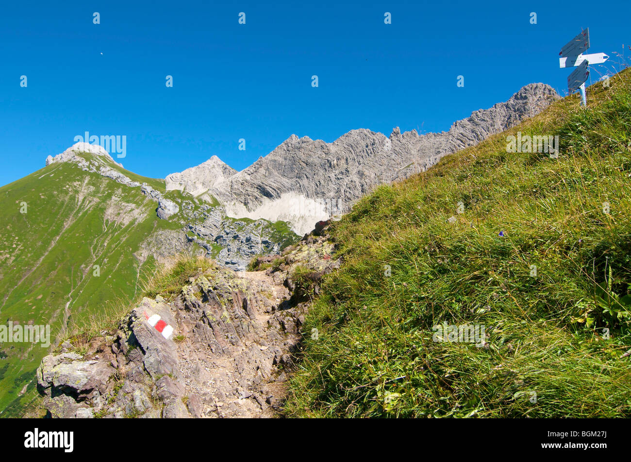 Path leading to the Prinz-Luitpold-House, Hintersteiner Valley, Bad Hindelang, Allgaeu, Bavaria, Germany, Europe Stock Photo
