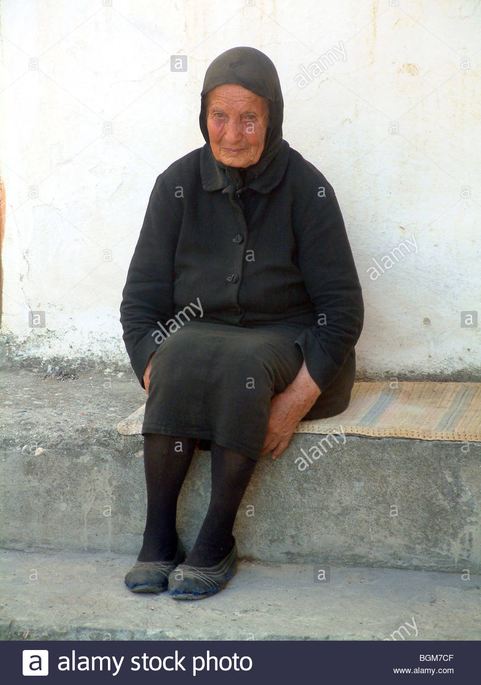 Old Greek Lady Yaya Grandmother Stock Photos Old Greek Lady Yaya