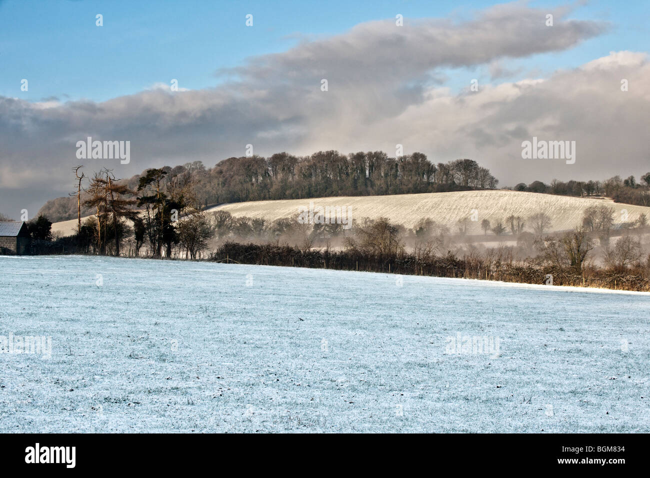 country landscape in winter - Stock Image
