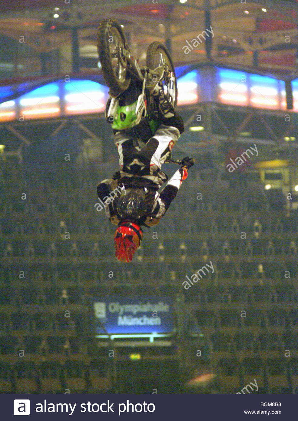 MOTORBIKE STUNTS Germany stunrman stunt Stock Photo