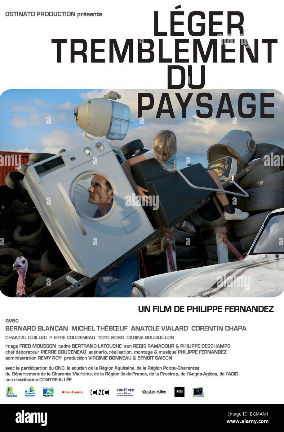Leger tremblement du paysage Year : 2009 Director : Philippe Fernandez Movie poster (Fr) - Stock Image