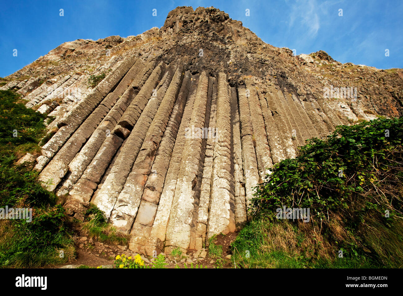 The Organ at the Giant's Causeway Antrim Northern Ireland a natural phenomena and a world heritage site. - Stock Image