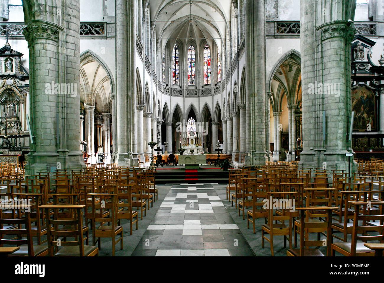 Interior Saint-Martinus church, Aalst, Belgium Stock Photo