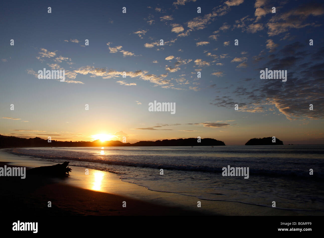 Sunrise At The Pacific Beach Of Samara In Costa Rica