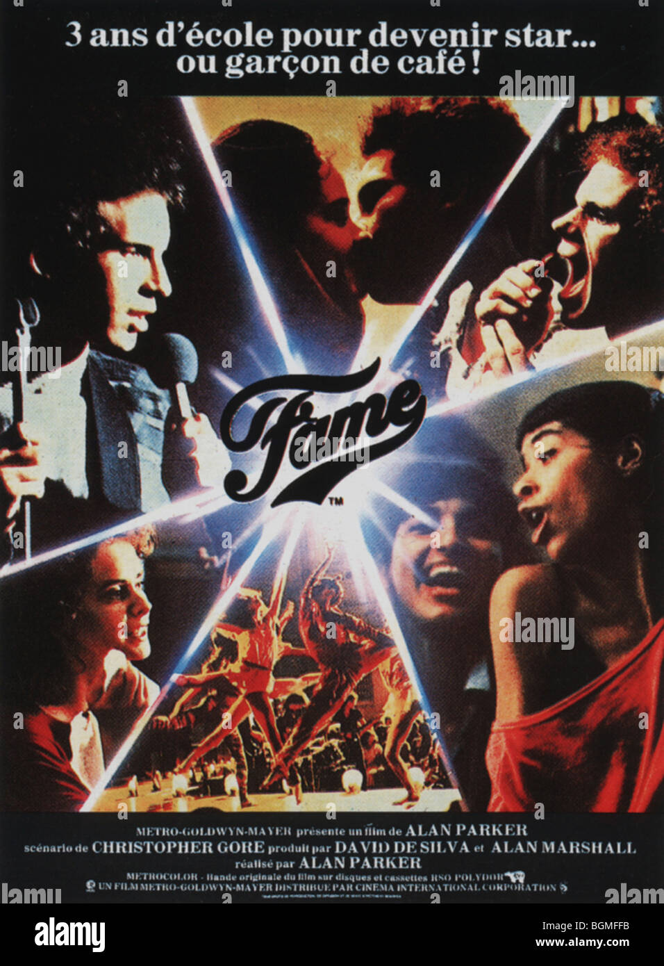 Fame  Year : 1980 Gene Anthony Ray  Director: Alan Parker Movie poster (Fr) - Stock Image