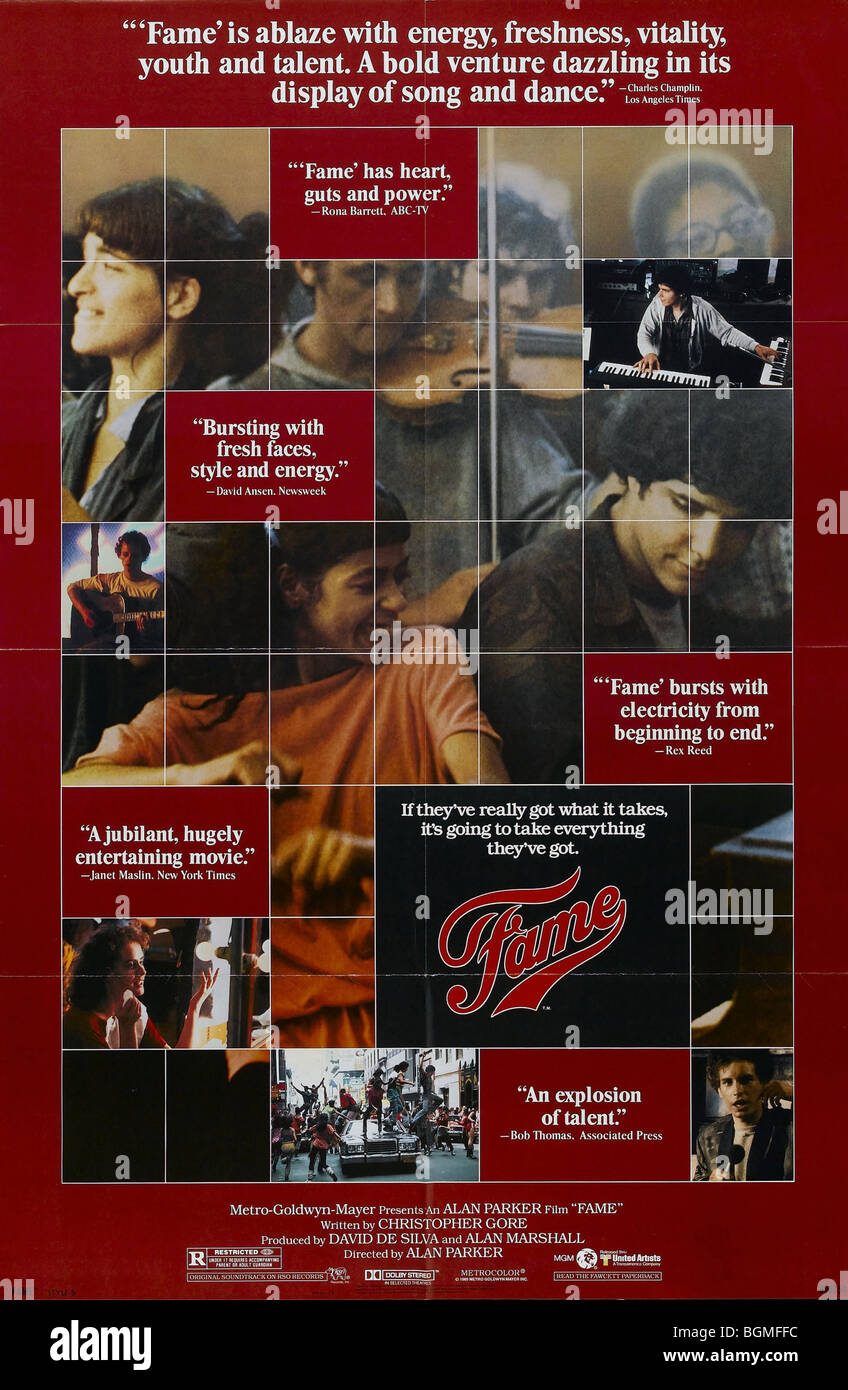 Fame  Year : 1980 Gene Anthony Ray  Director: Alan Parker Movie poster (USA) - Stock Image