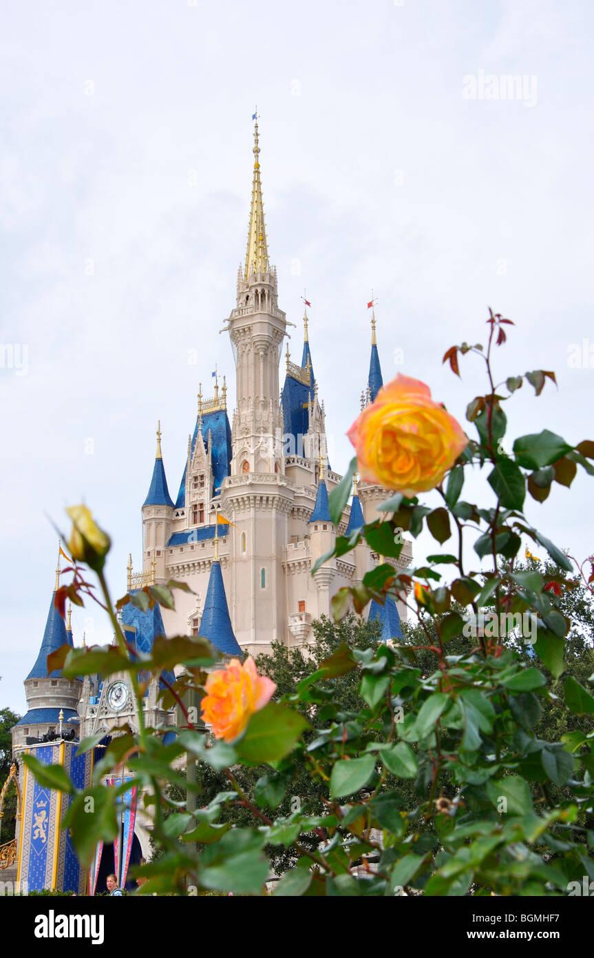 Cinderella's Castle in Magic Kingdom, Disneyworld, Orlando, Florida, USA Stock Photo