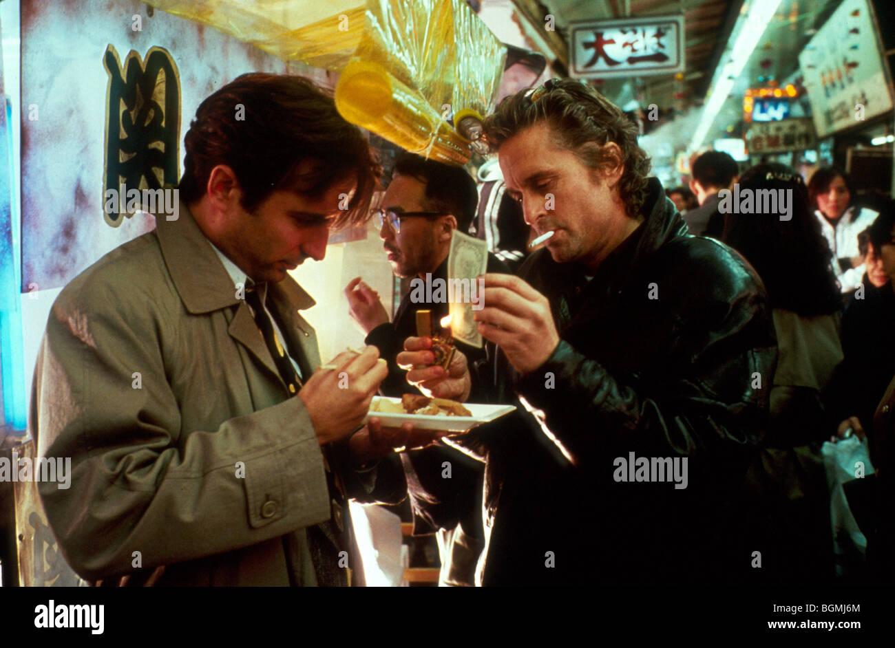 Black Rain Year : 1989 Director : Ridley Scott Andy Garcia, Michael Douglas - Stock Image