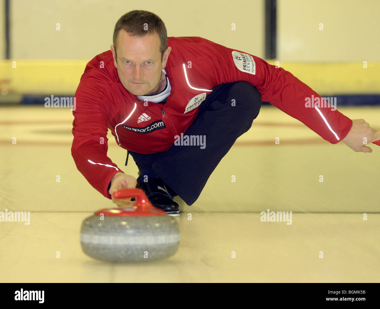 Peter Smith Team GB Men's Curling Team for Vancouver Winter Olympics 2010. Stock Photo