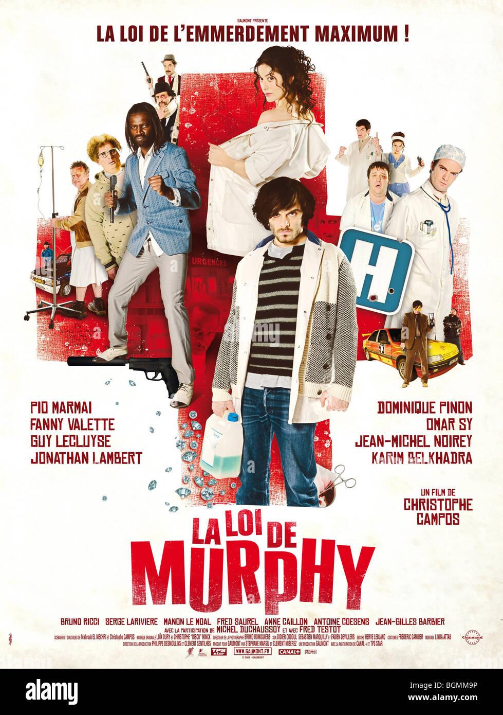 La Loi de Murphy Year : 2009 Director : Christophe Campos Pio Marmai Movie poster (Fr) - Stock Image