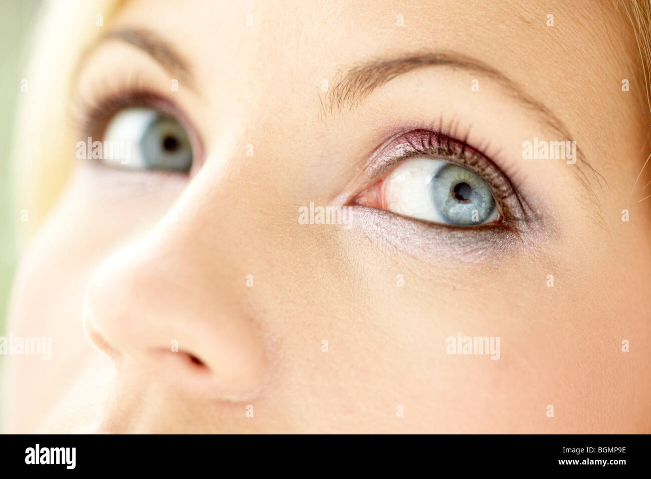 Close up of womans eyes - Stock Image