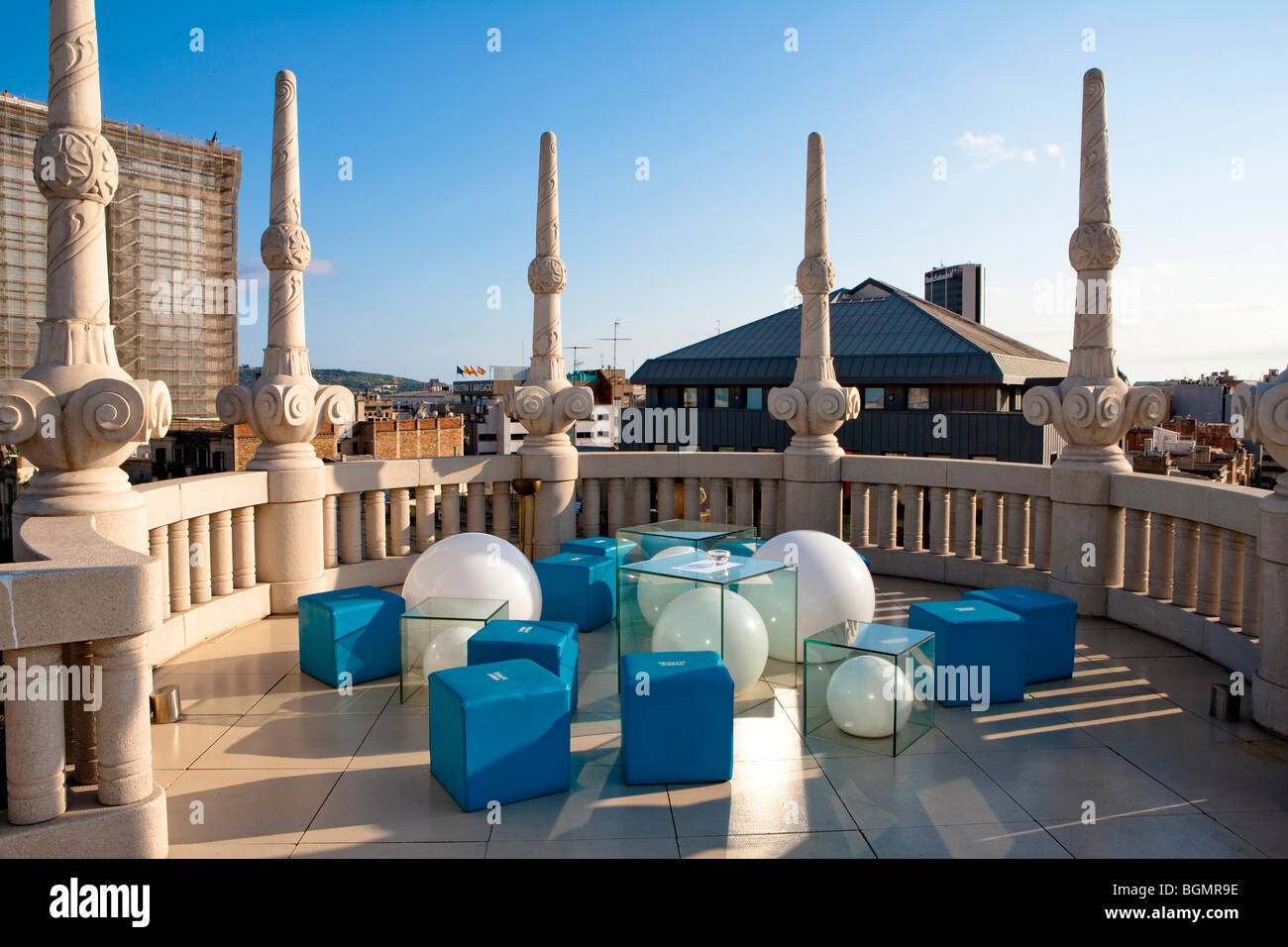 Barcelona Hotel Casa Fuster Terrace Stock Photo