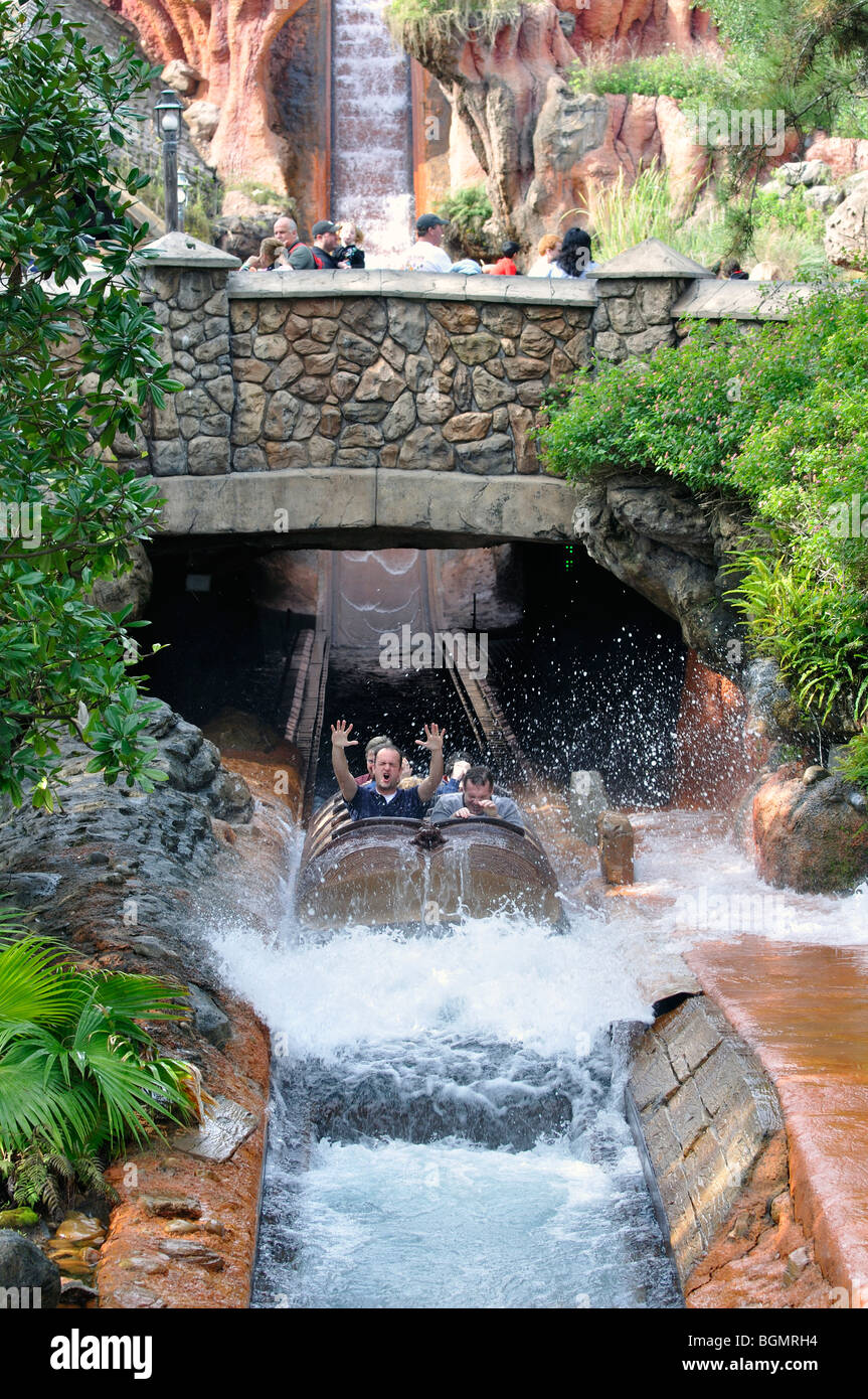 Water ride in DisneyWorld, Orlando, Florida, USA - Stock Image