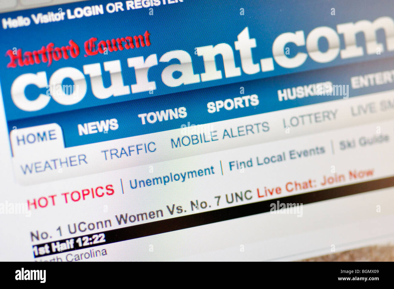 The Hartford Courant website Stock Photo: 27504297 - Alamy