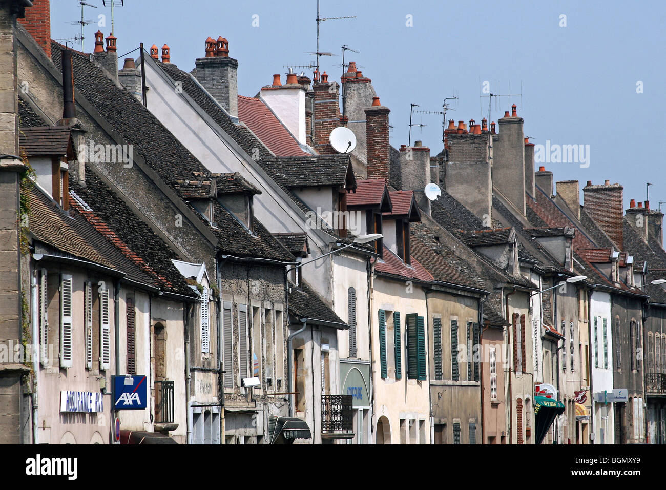 Houses in the historical centre of Beaune, France - Stock Image