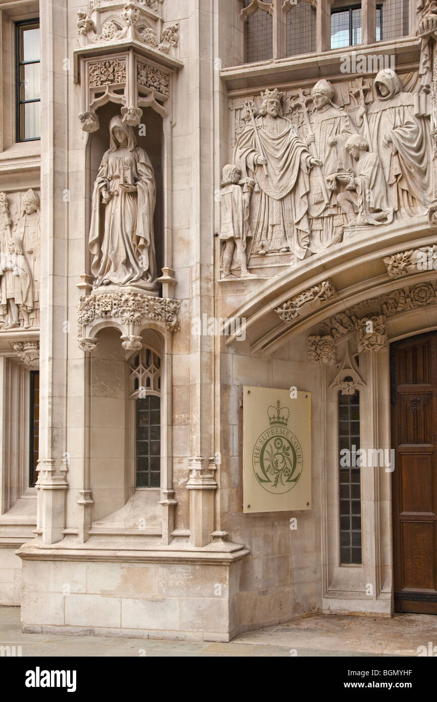 Entrance to the new Supreme Court London Westminster London England UK United Kingdom GB Great Britain British Isles - Stock Image