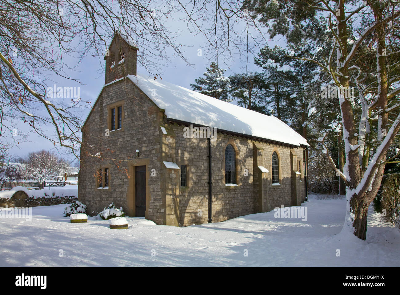 Church of St Chad Hutton-le-Hole North York Moors National Park Stock Photo