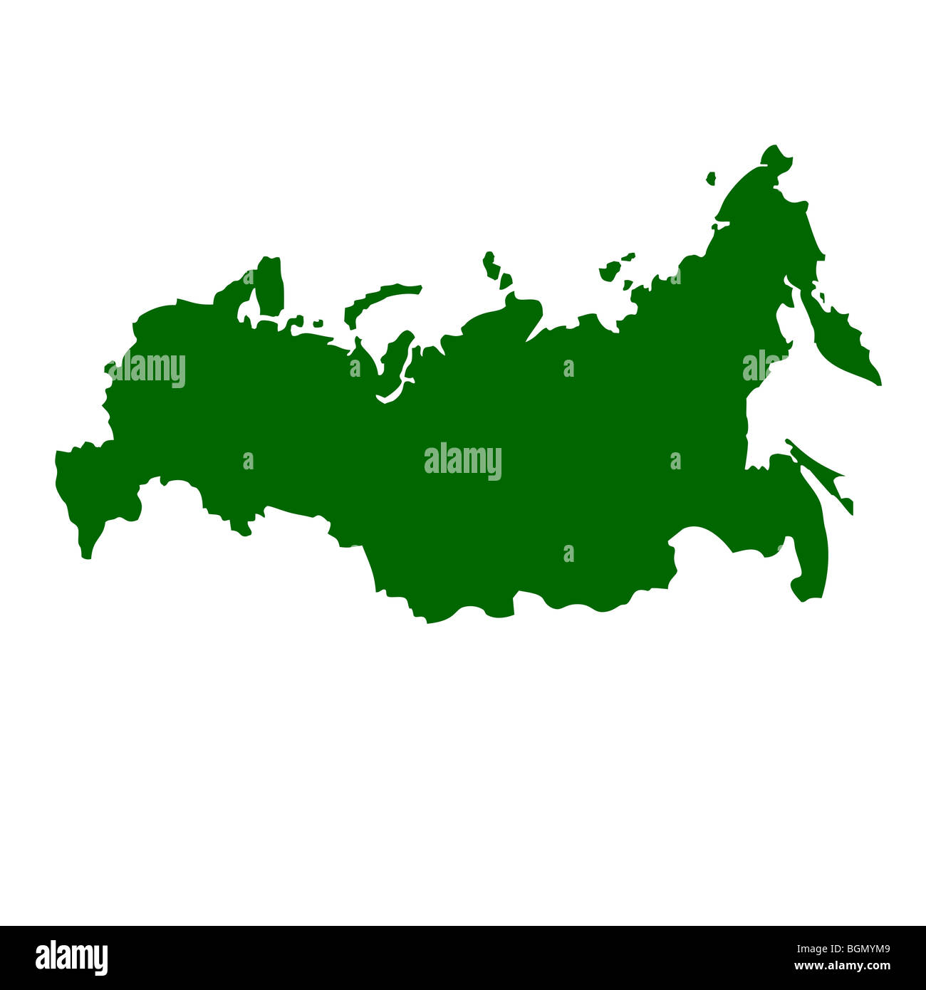 Russian Federation map isolated on white background Stock Photo ...