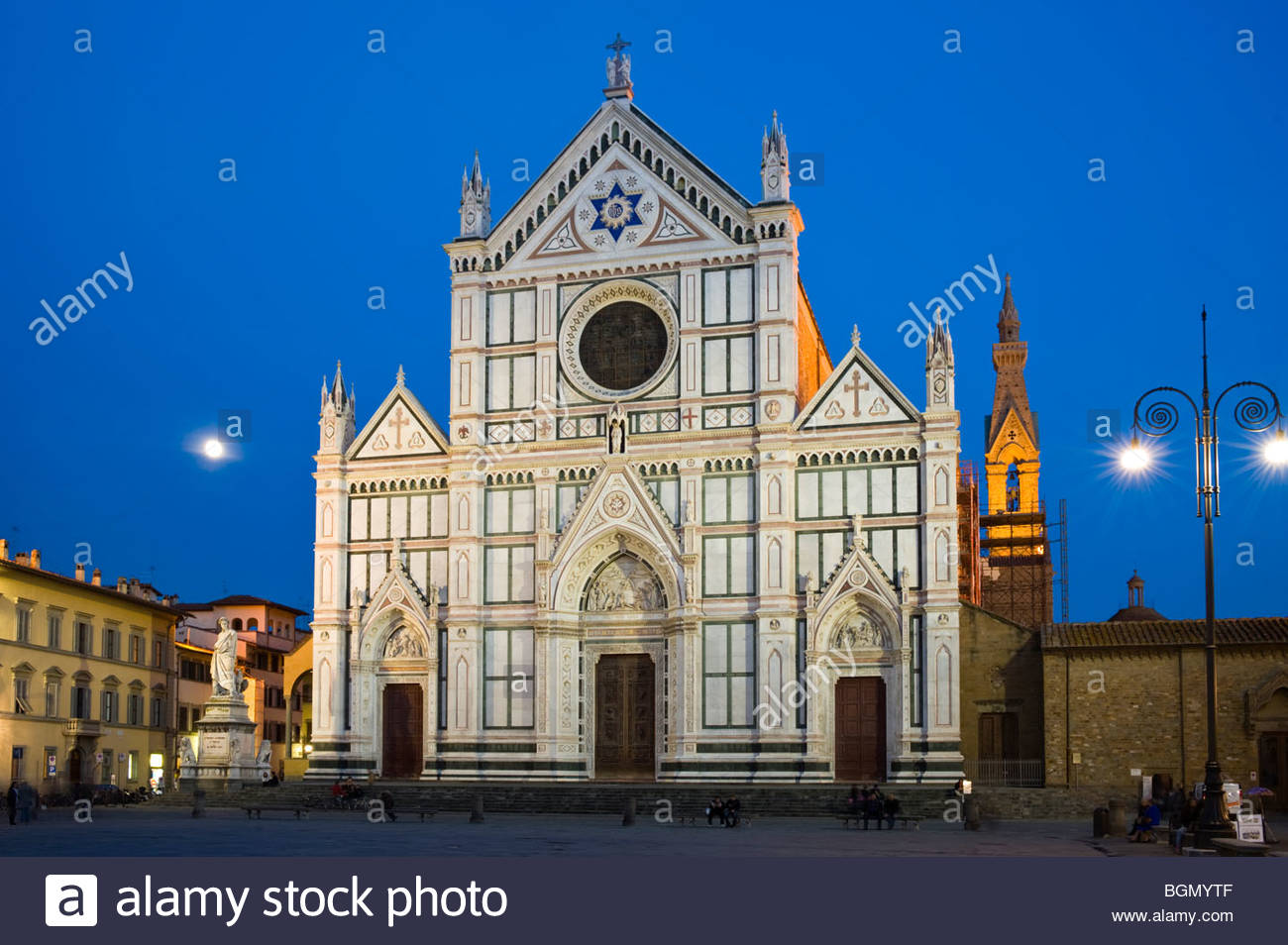 Basilica di Santa Croce, the largest Franciscan church in the world, Florence, Italy. - Stock Image