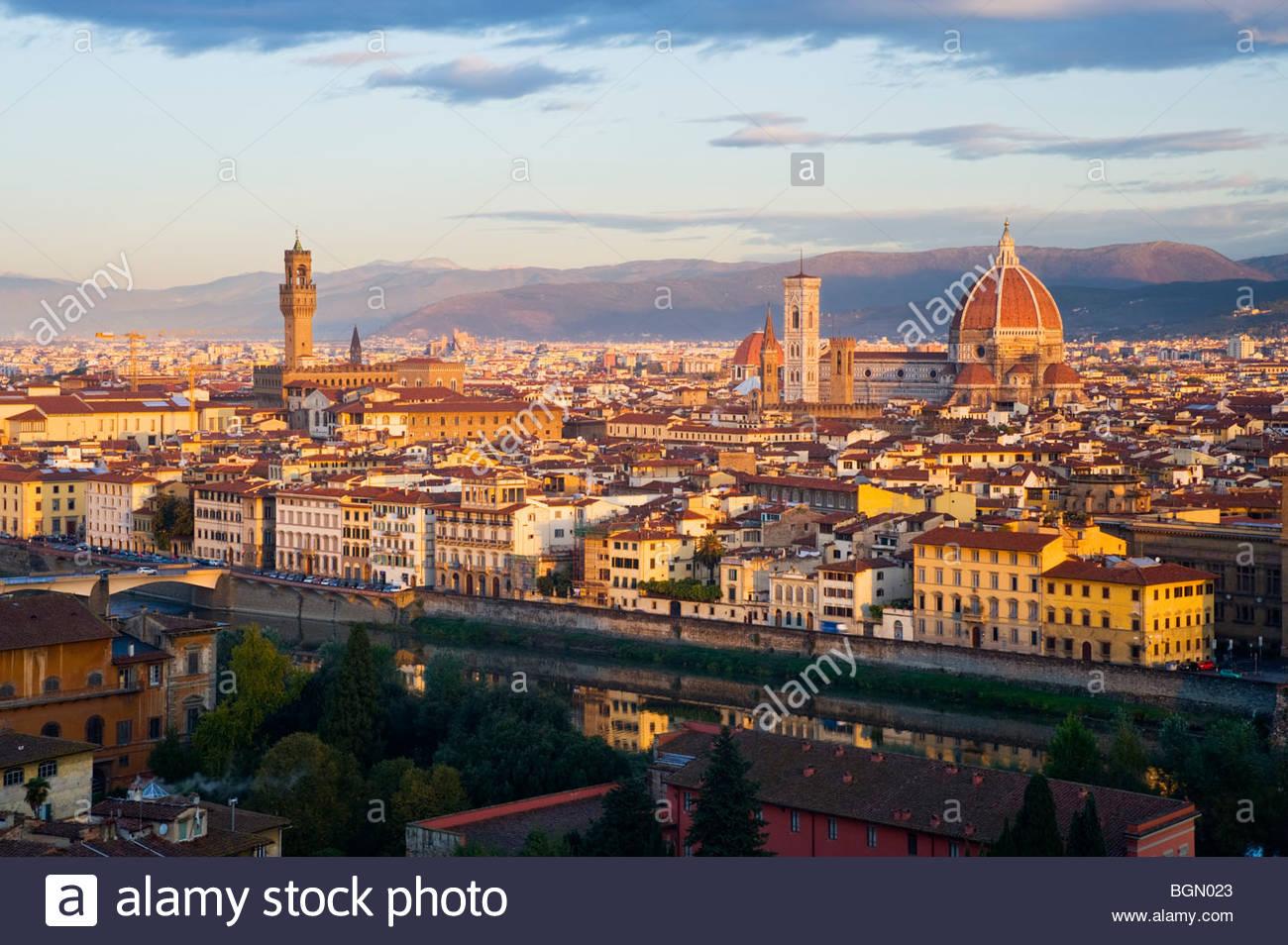 Florence at sunrise, Tuscany, Italy. - Stock Image