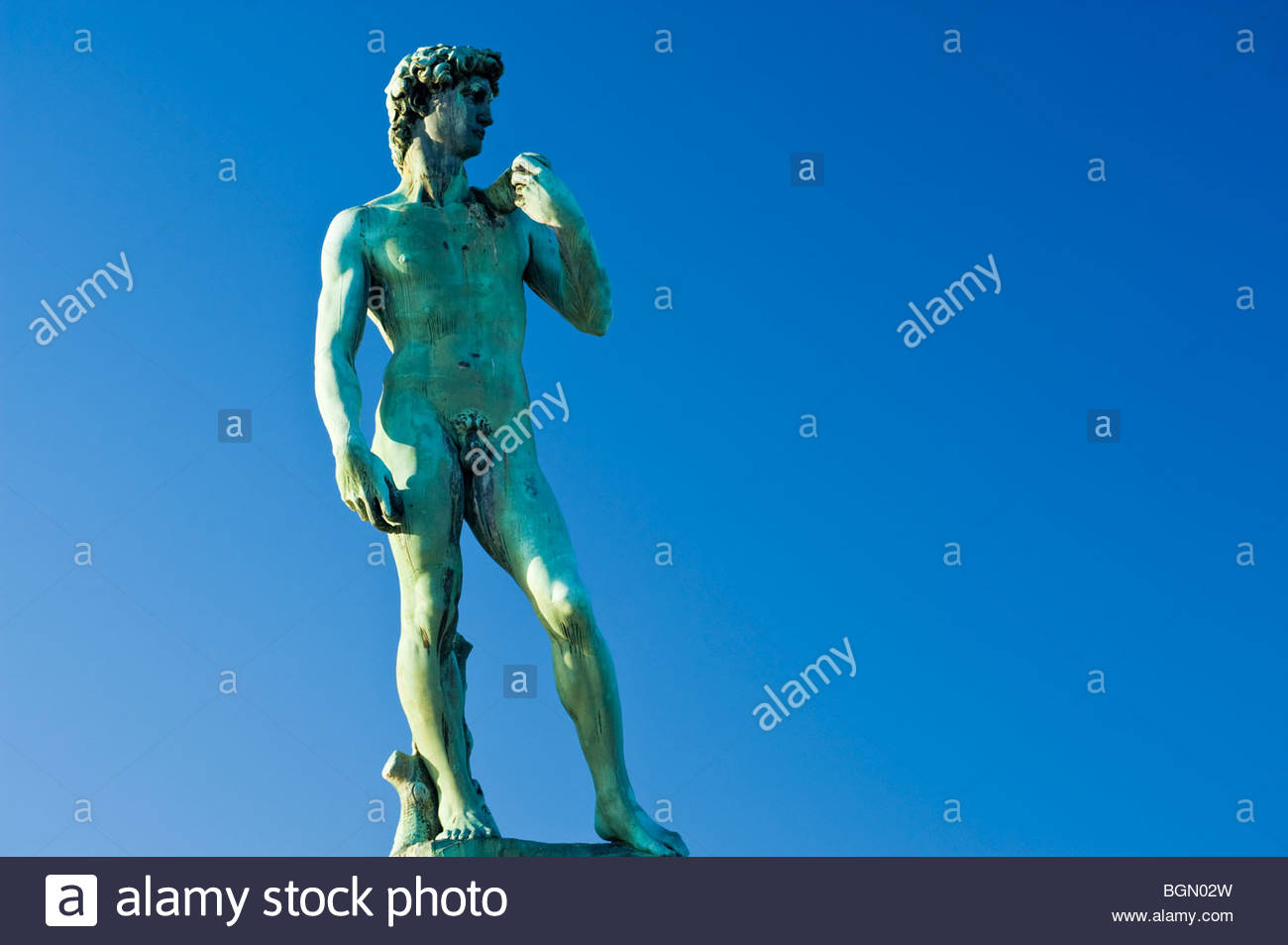 Statue of David, Piazza Michelangelo, Florence, Italy. - Stock Image