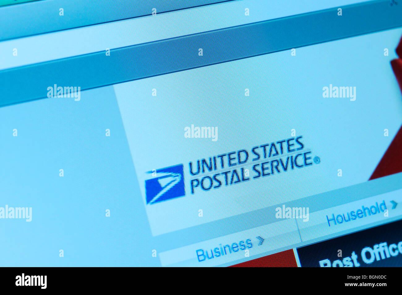 United States Postal Service website - Stock Image