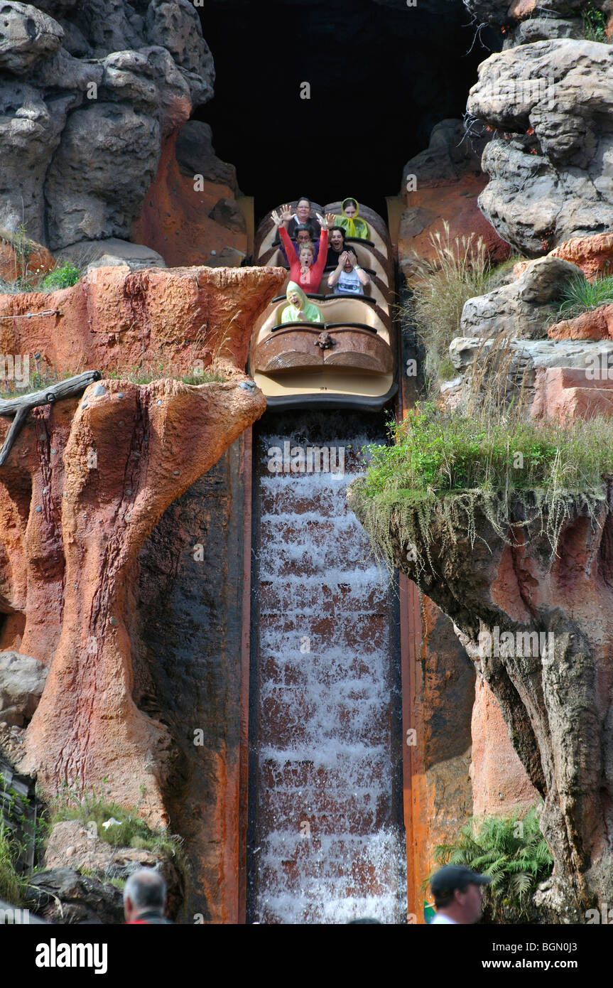 Splash Mountain in DisneyWorld, Orlando, Florida, USA - Stock Image