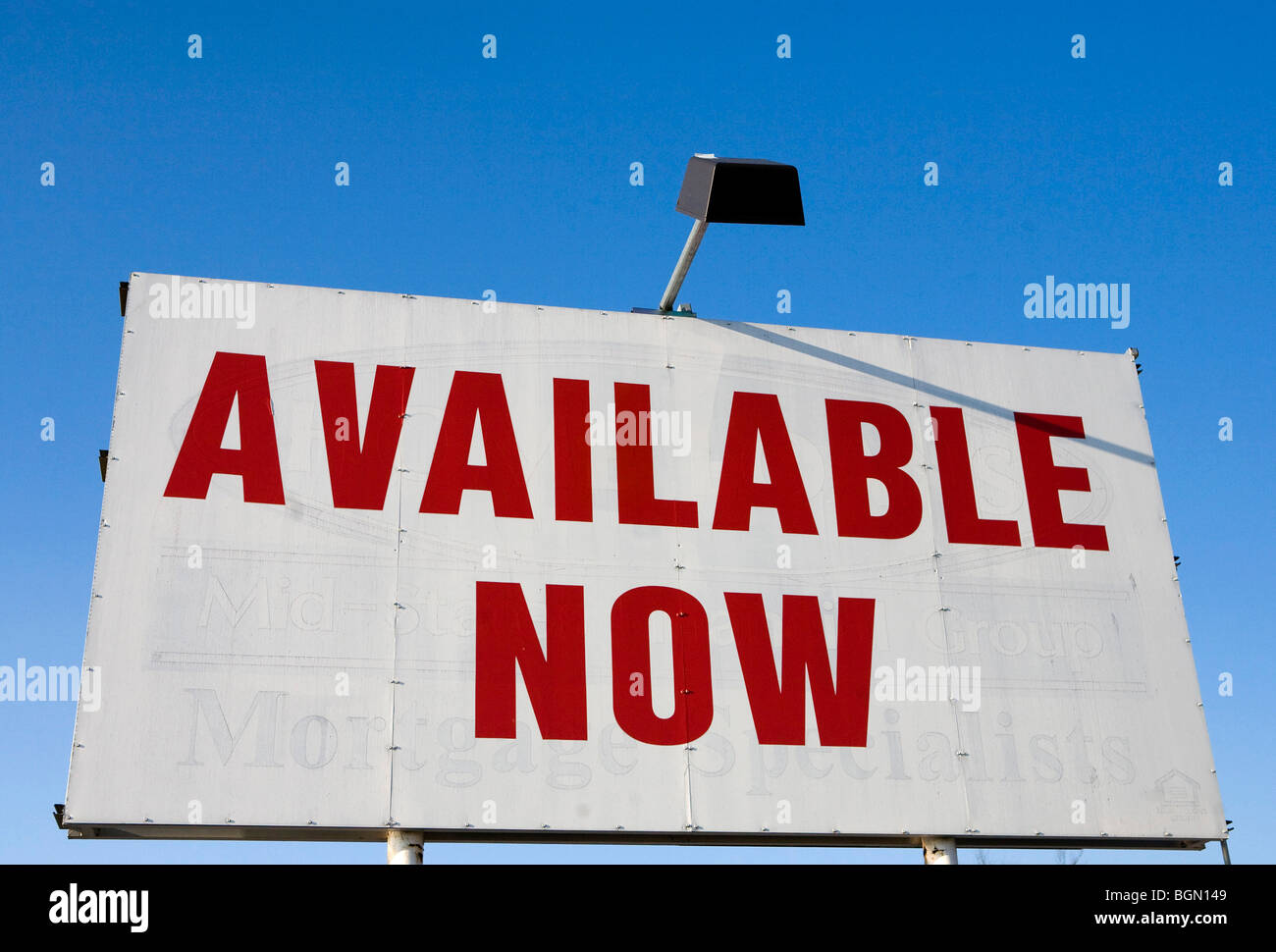 Signage advertising retail space for rent or lease.  - Stock Image
