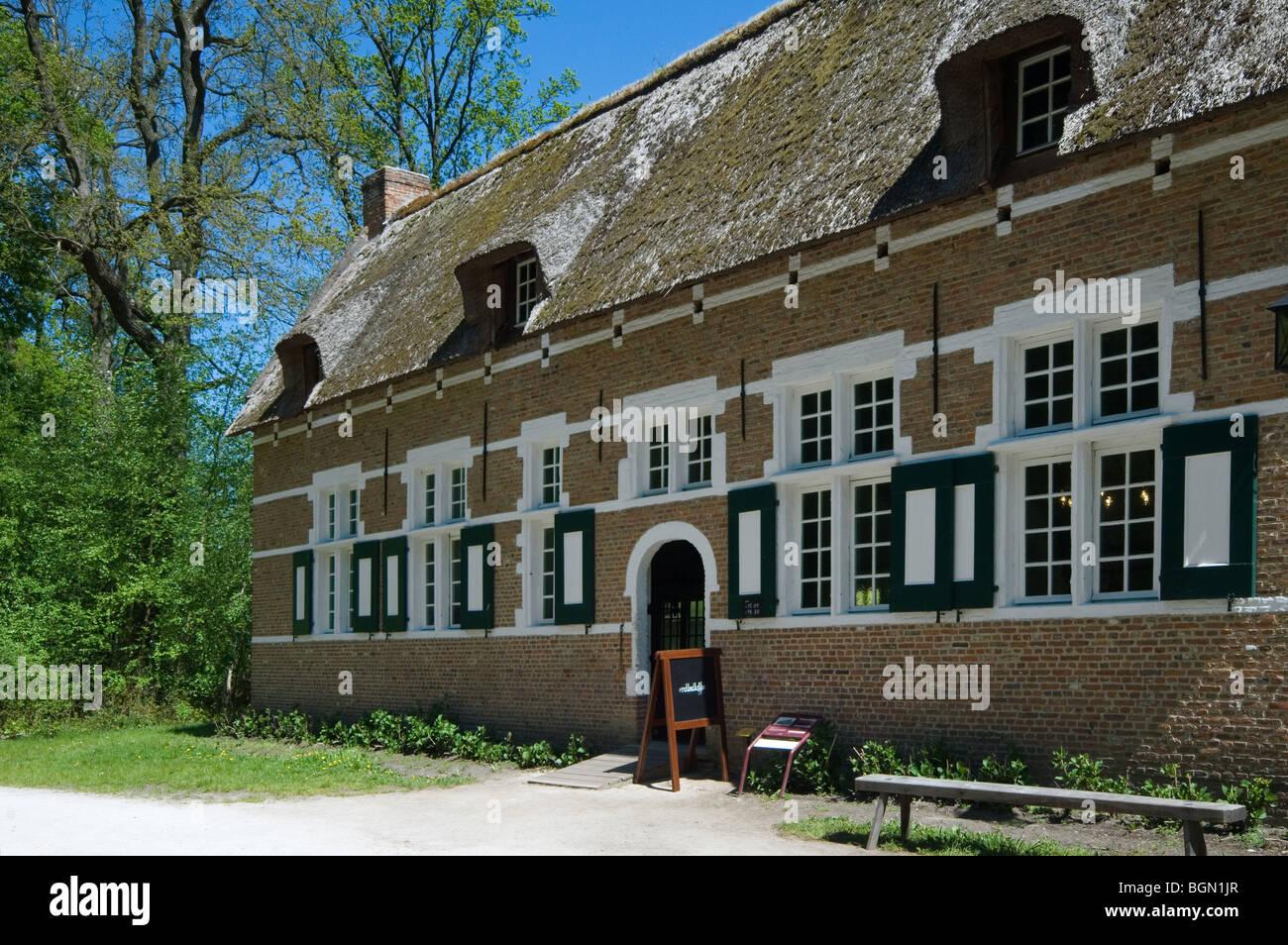 Traditional house in the open air museum Bokrijk, Belgium Stock Photo