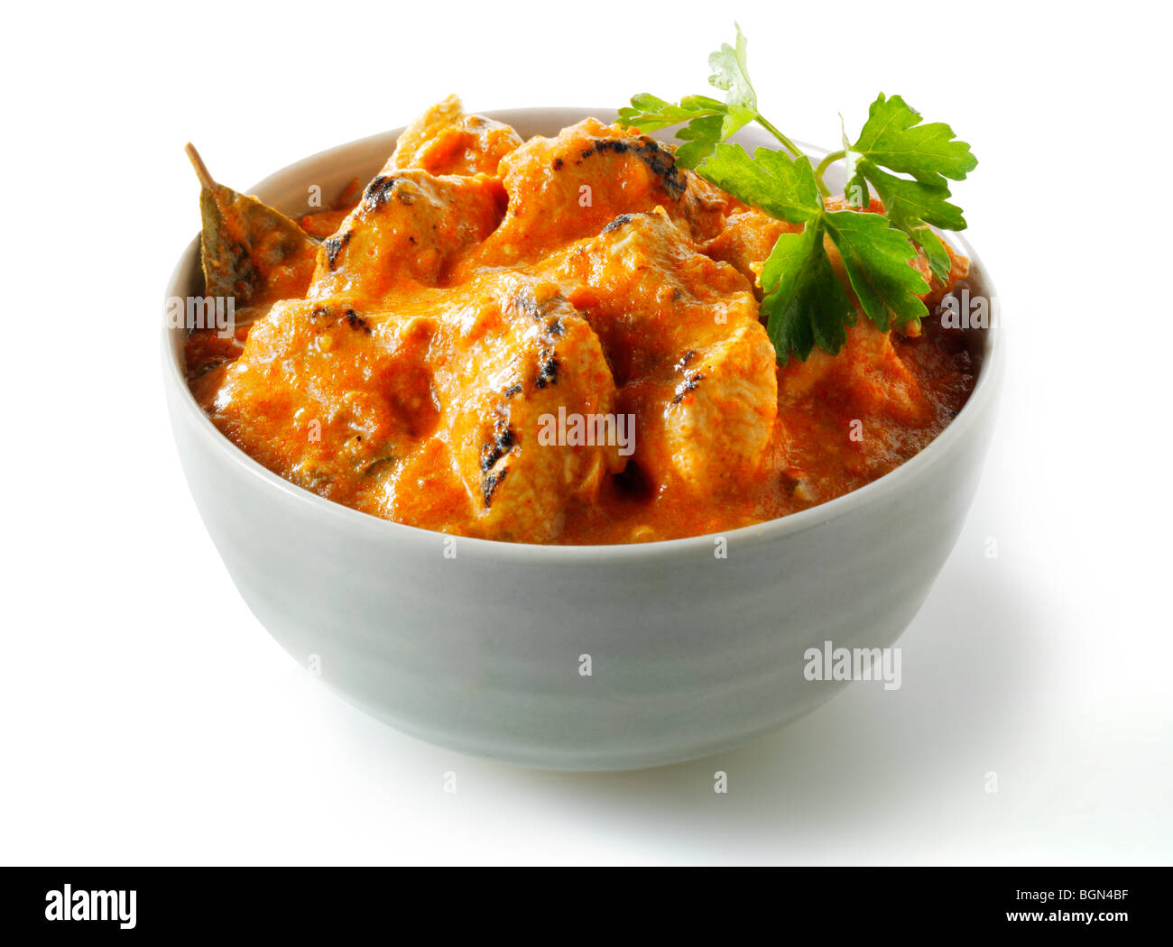 butter chicken curry Indian food - Stock Image