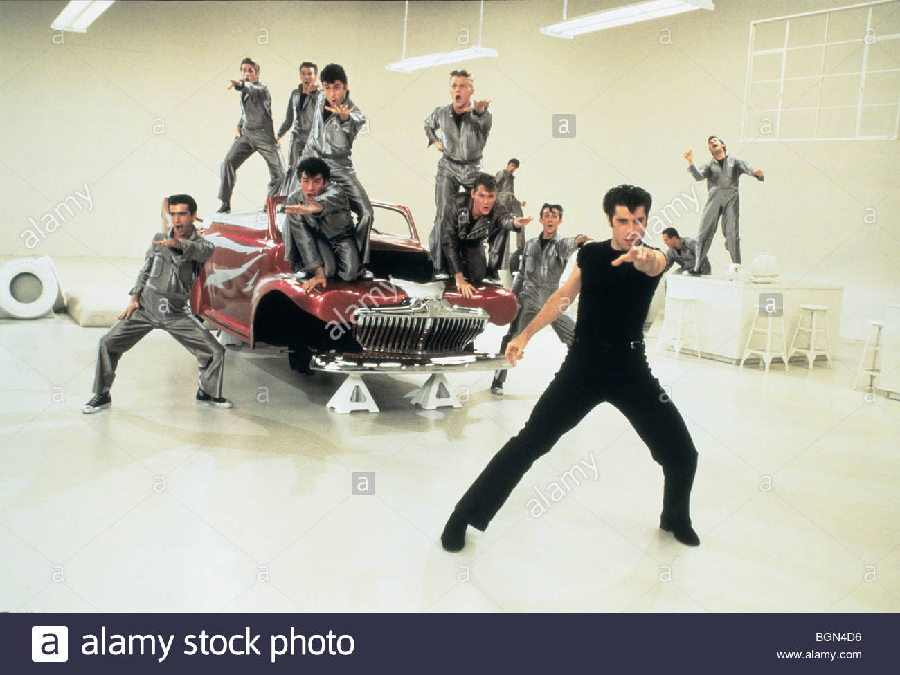 Grease Year : 1978 Director : Randal Kleiser John Travolta - Stock Image