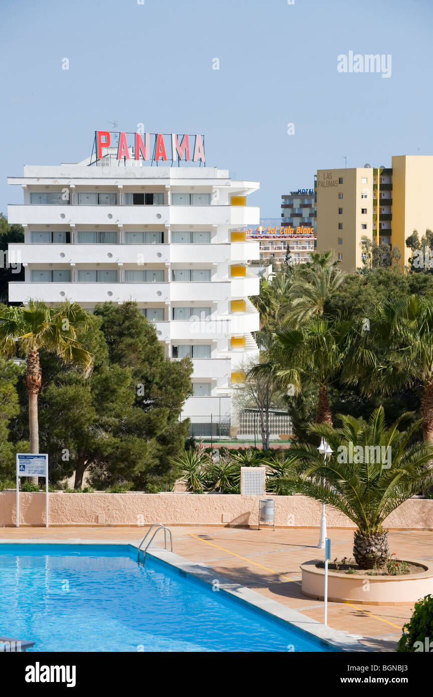 Apartment complex with swimming pool stock photos apartment complex with swimming pool stock for Palma de mallorca hotels with swimming pool