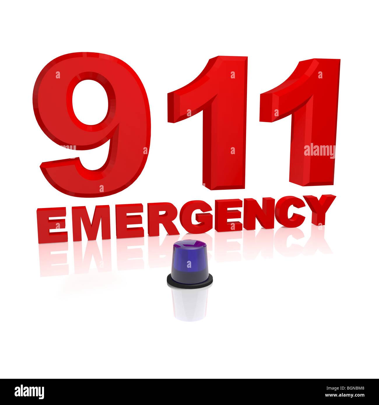911 emergency - Stock Image