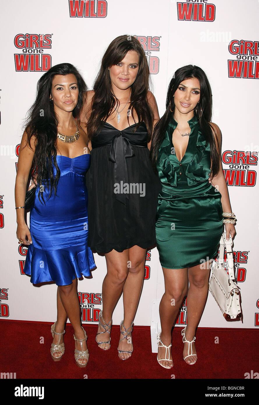 Kourtney Khloe Kim Kardashian Girls Gone Wild Magazine Launch West Hollywood California Usa