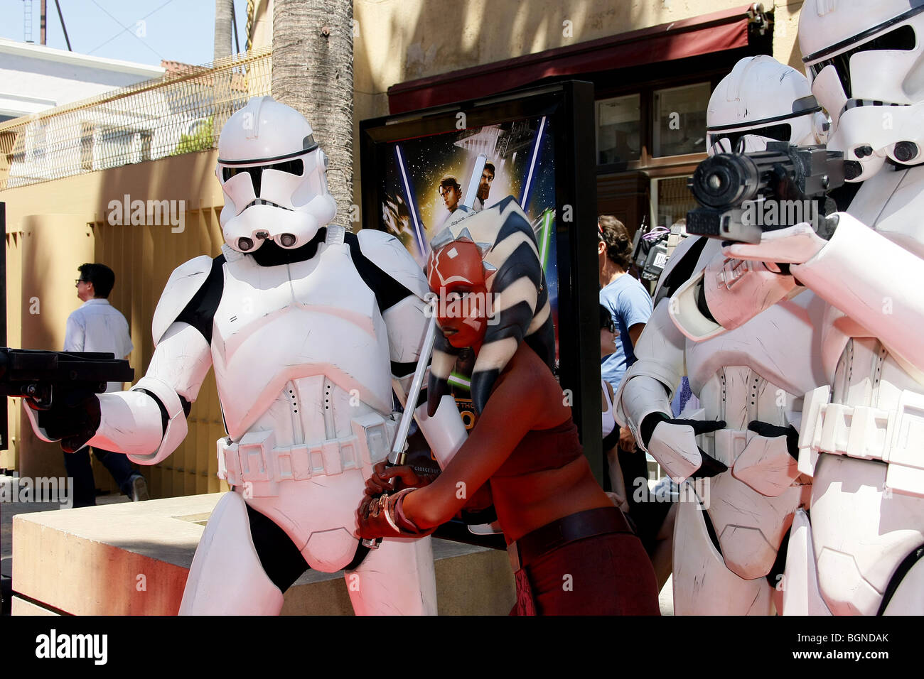 AHSOKA TANO STORMTROPPERS STAR WARS: THE CLONE WARS U.S. PREMIERE EGYPTIAN THEATRE  HOLLYWOOD LOS ANGELES USA 10 - Stock Image