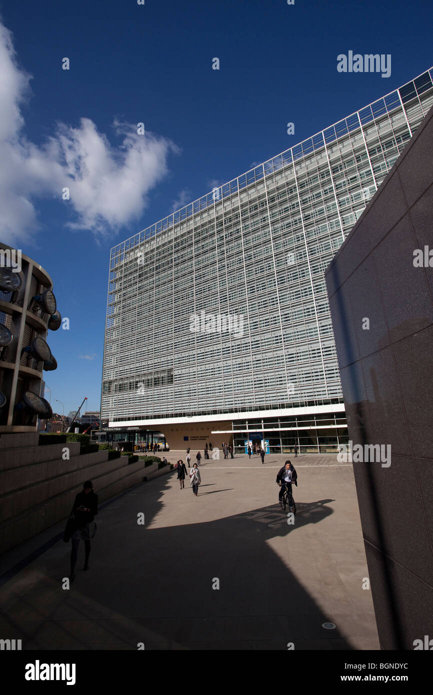 Berlaymont building, the European Commission headquarters in Brussels - Stock Image