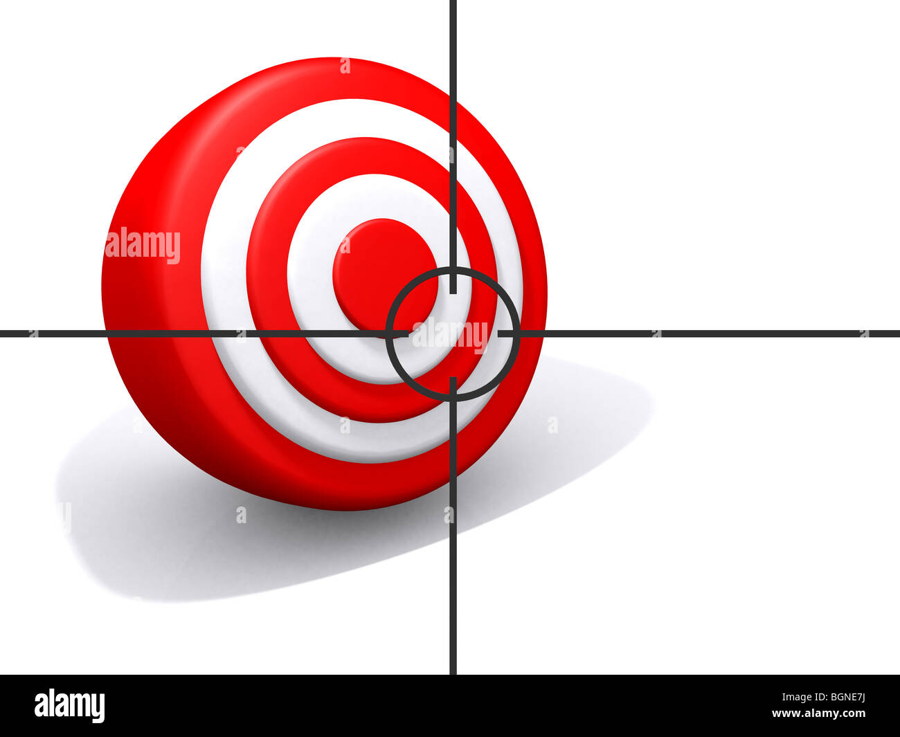 a target being viewed through a scope - Stock Image