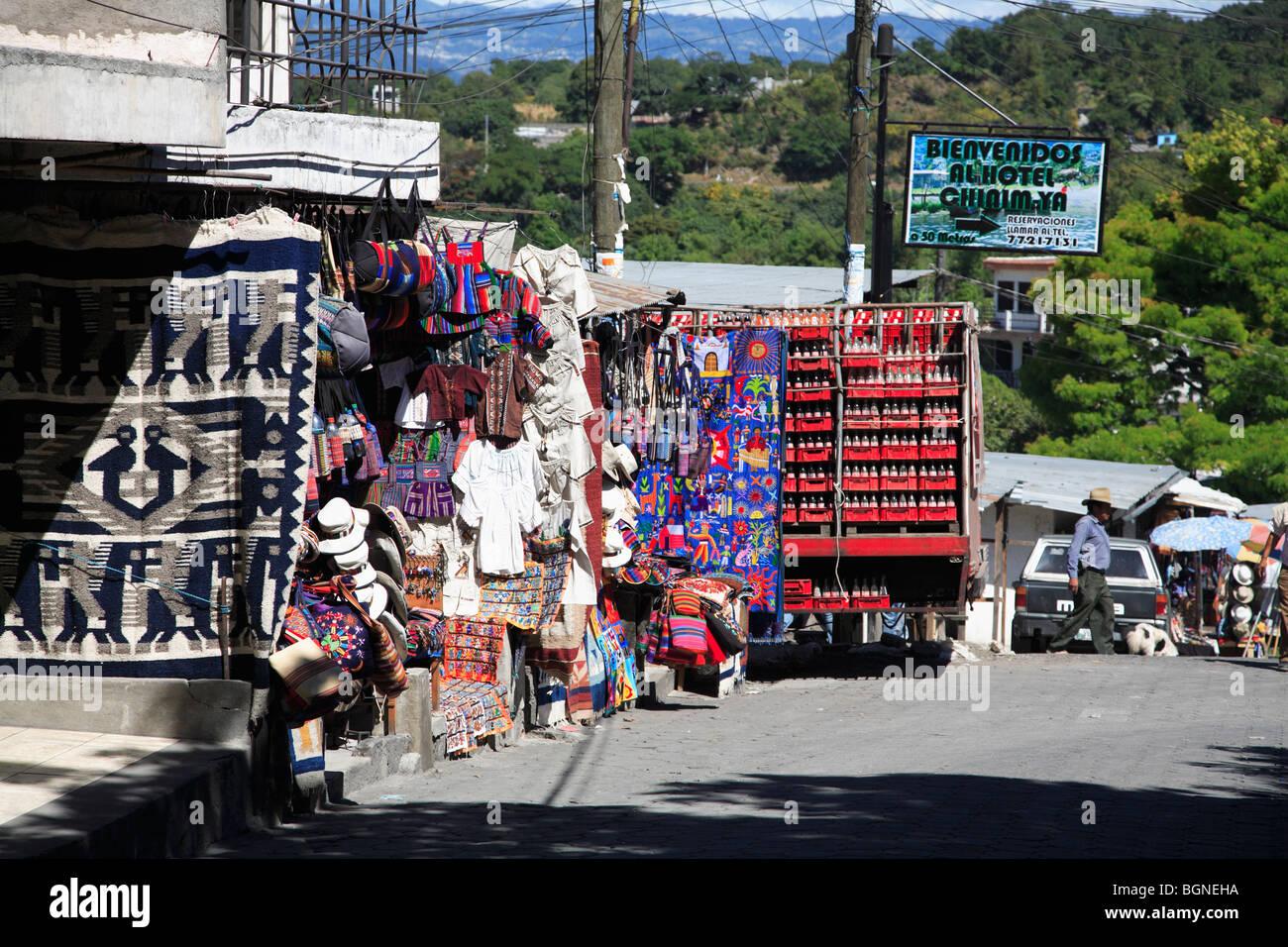 Santiago Atitlan, Lake Atitlan, Guatemala, Central America - Stock Image