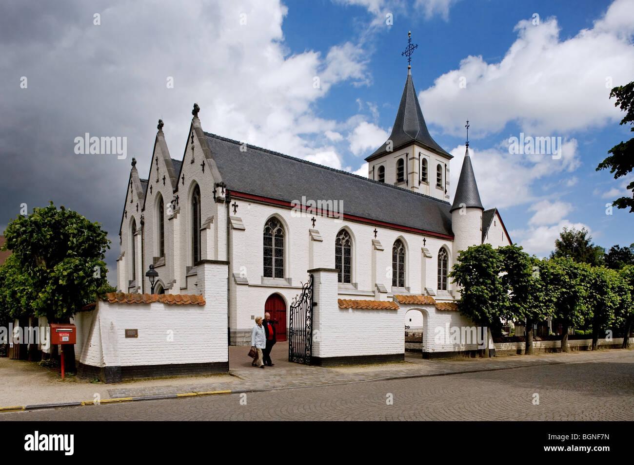 The Sint-Martinus church, Sint-Martens-Latem, Belgium - Stock Image