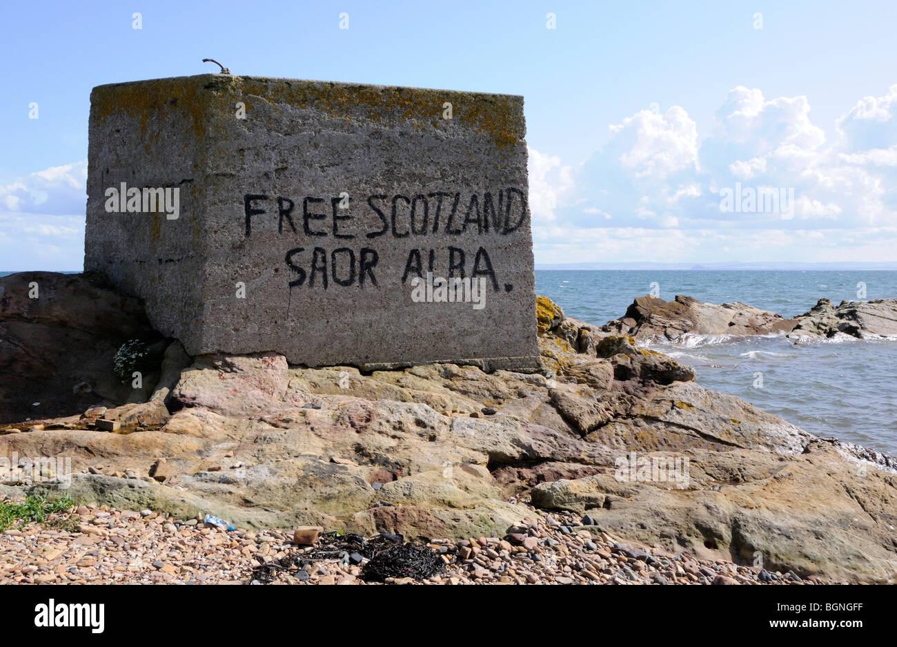 Free Scotland, Saor Alba - Stock Image