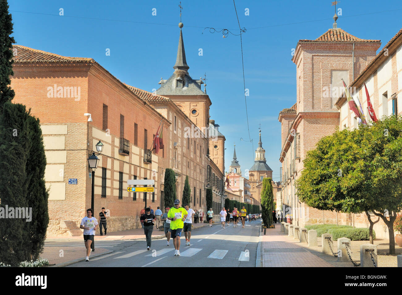 Runners competing in the Alcala 10k marathon, Alcala de Henares, Madrid province, Spain - Stock Image